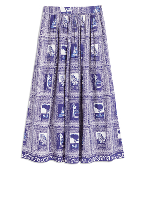 Le Sirenuse Jane Skirt in Dark Blue Skirts