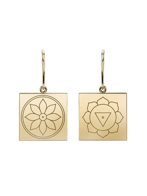 Ark Fine Jewelry ARK Fine Jewelry Mismatched Engraved Earrings - Yellow Gold Jewelry