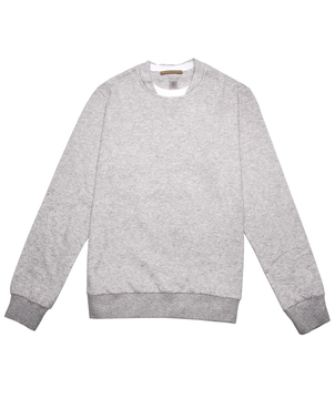 Eleventy Eleventy Pearl Grey Heather Crew Neck Sweatshirt Tops