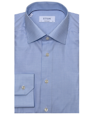 Eton Eton Blue Check Dress Shirt Men's