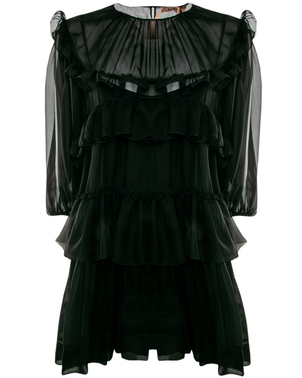N°21 No. 21 Ruffled Sheer Dress Dresses