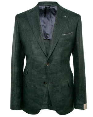 Eleventy Eleventy Green Glen Plaid Sportcoat Men's
