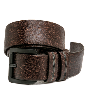 Brunello Cucinelli Brunello Cucinelli Chocolate Crackle Calfskin Belt Accessories