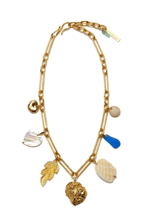 Lizzie Fortunato Paradise Charm Necklace Jewelry