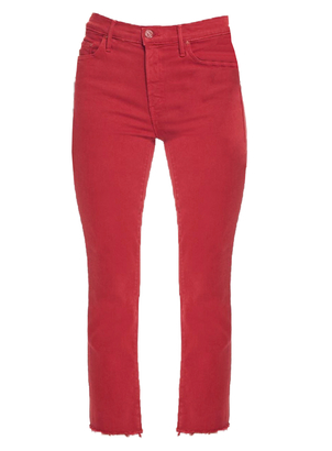 Mother Insider Crop Step Fray Pants