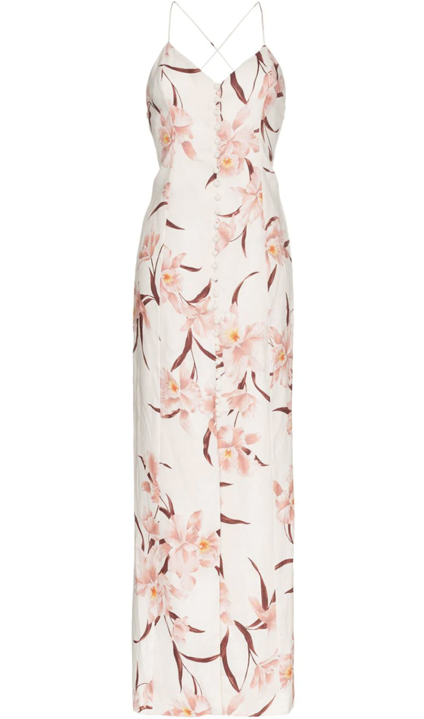 Zimmermann Sleeveless Floral Dress Dresses