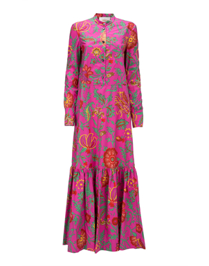 La Double J Maxi Shirt Dress in Dragon Flower Dresses