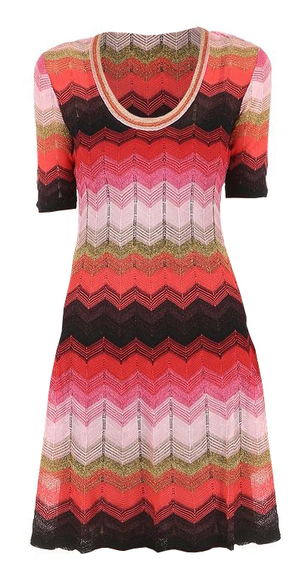 M Missoni Lurex Stripe Dress Dresses