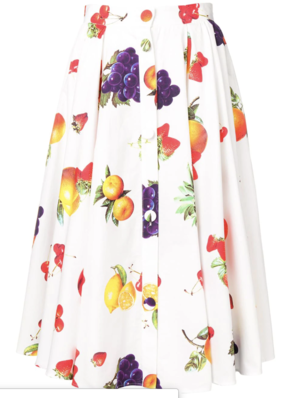 MSGM Midi Skirt in Multicolored Fruit Skirts