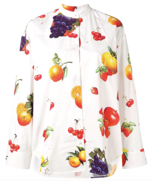 MSGM Fruit Printed Button Down Tops