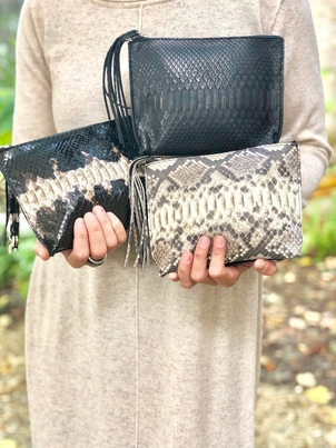 Marlee Python Clutch (+More Colors) Bags