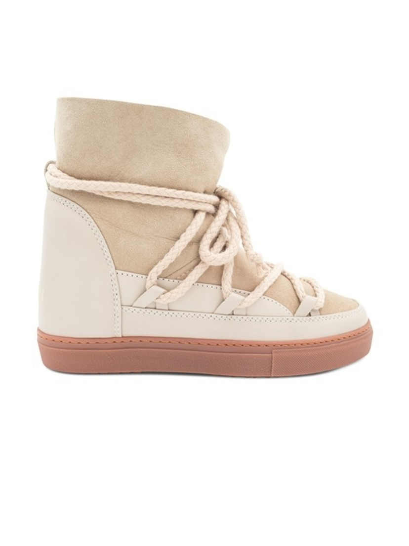 INUIKII Classic Wedge Sneaker - Beige (Originally $340) Sale Shoes