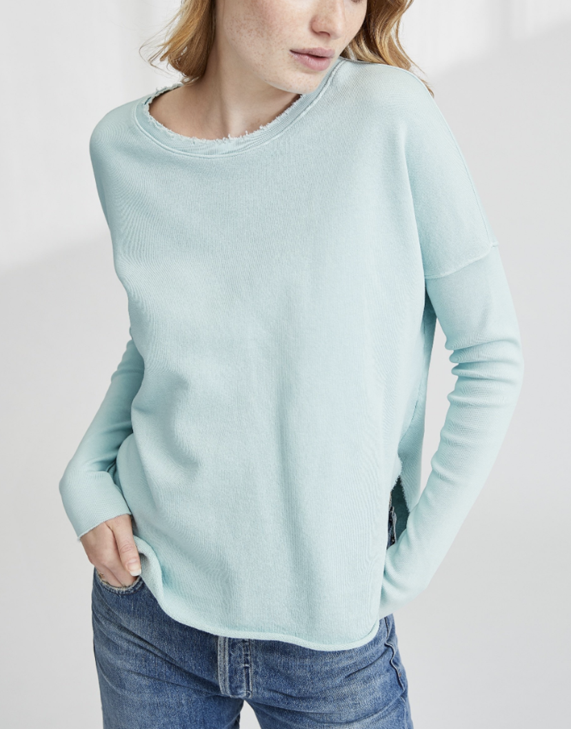 Tee Lab by Frank & Eileen Relaxed Long Sleeve Sweatshirt - Excitement Tops