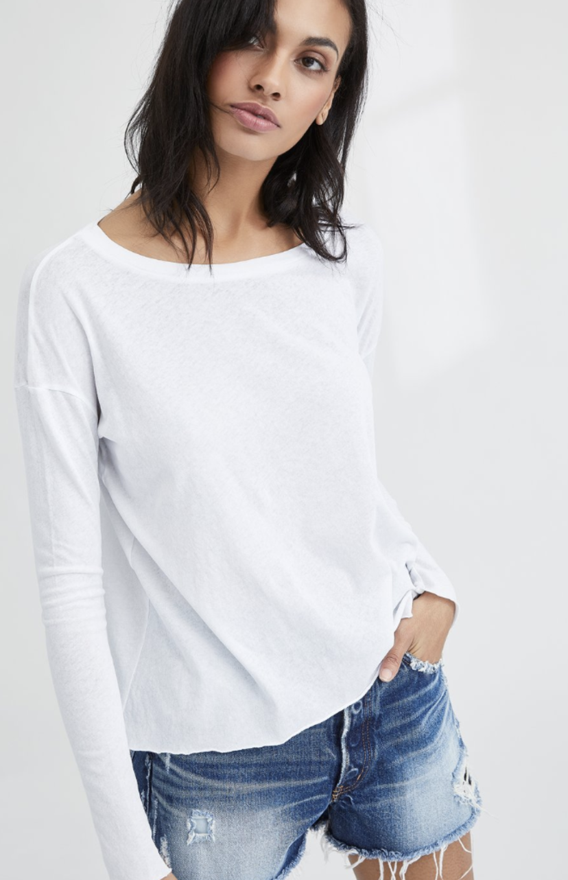 Tee Lab by Frank & Eileen Core Long Sleeve Tee - Whiteout Tops