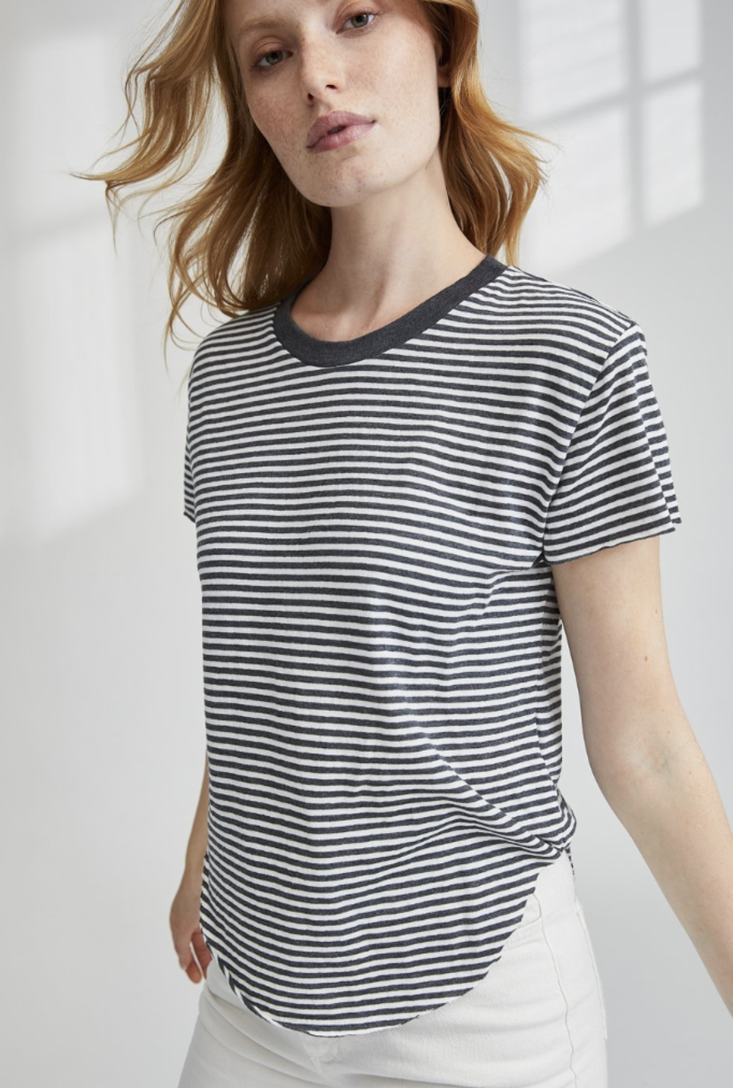 Tee Lab by Frank & Eileen Vintage Tee - Carbon Stripe Sale Tops