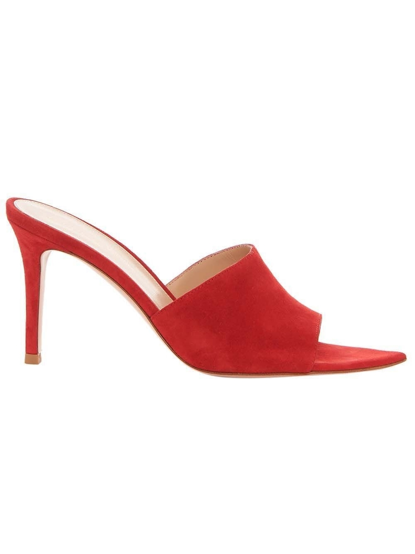 Gianvito Rossi Gianvito Rossi - Point-Toe 85 Suede Mules Shoes
