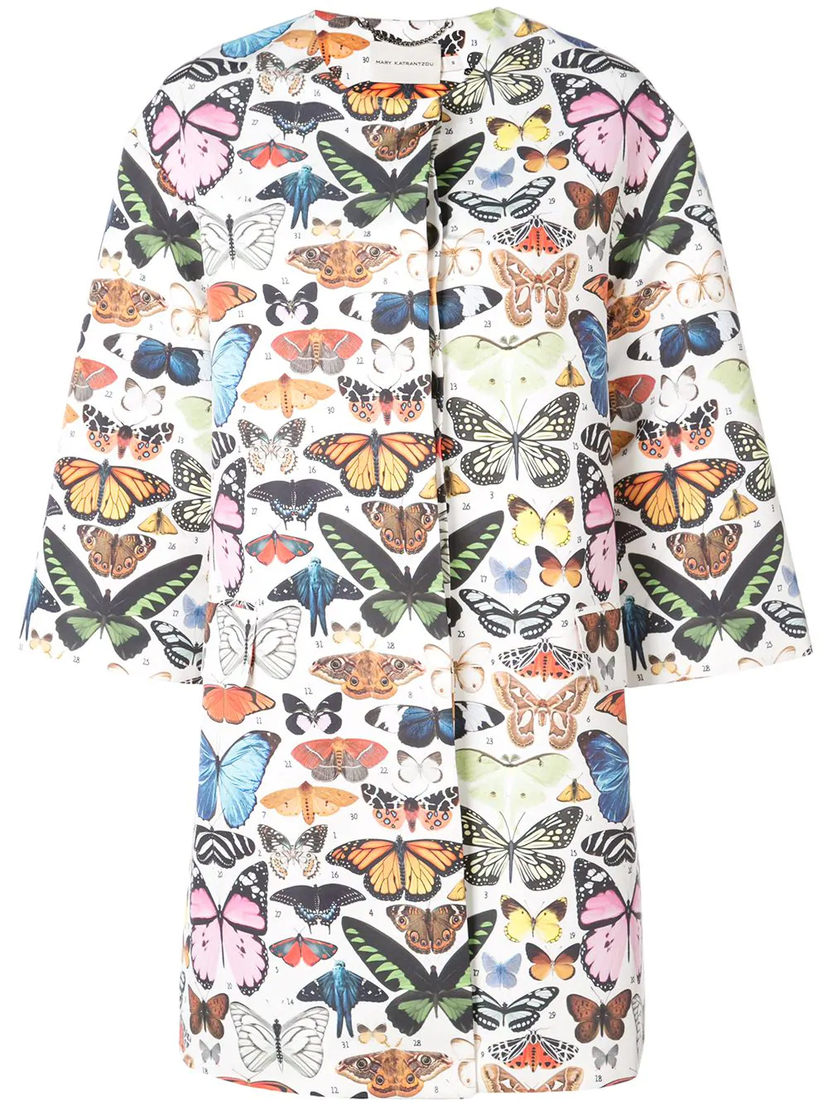 Mary Katrantzou Spence Butterfly Coat Outerwear