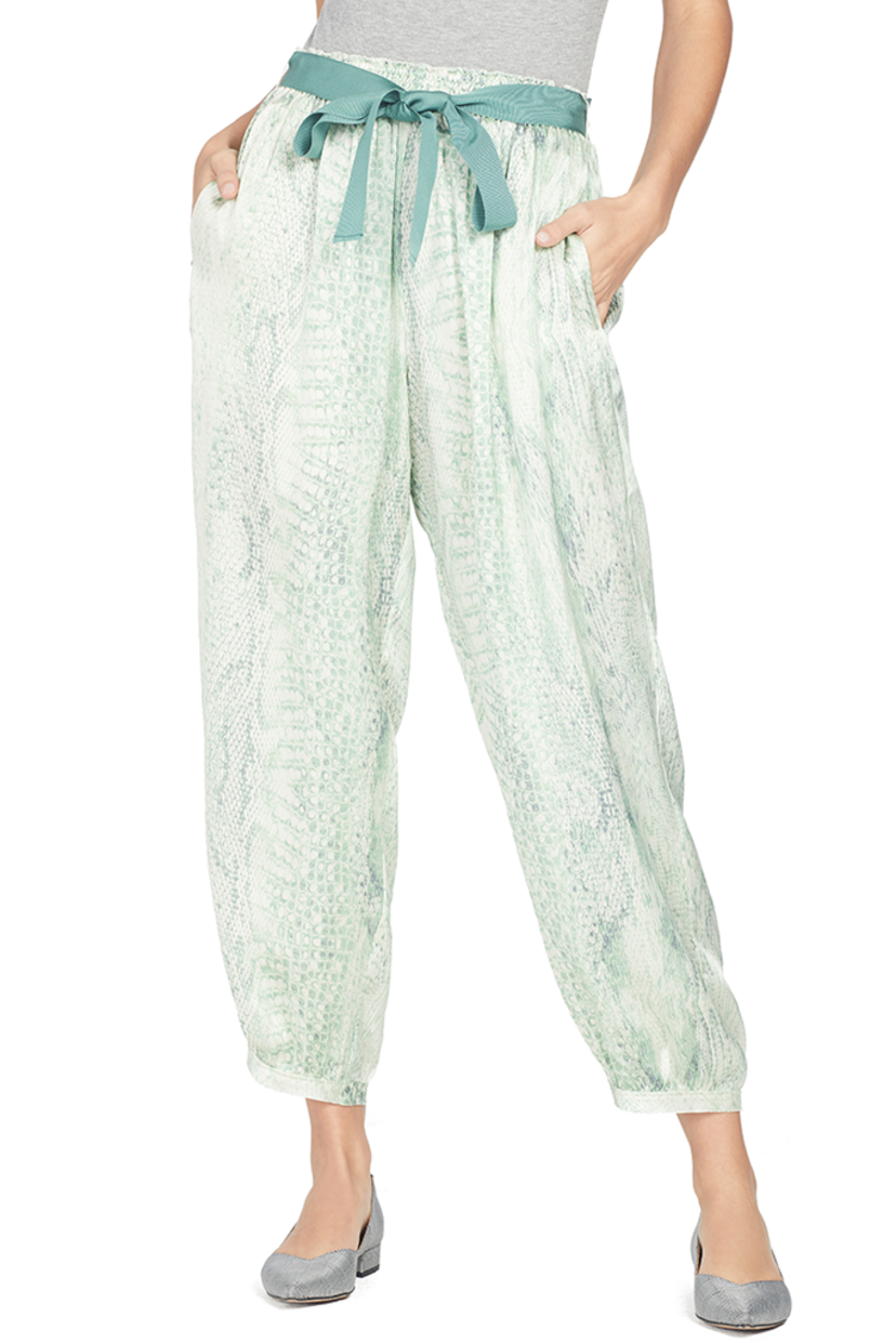 Giada Forte Underwater Love Satin Silk Pant Pants