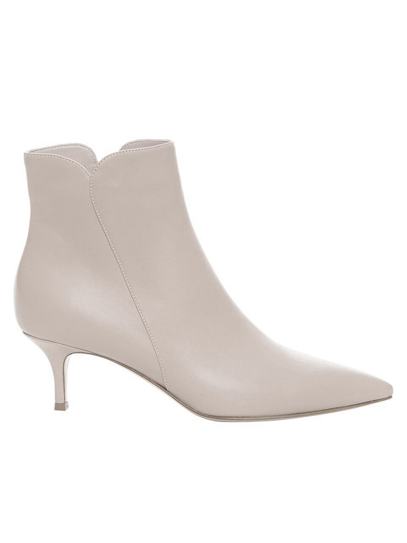 - Gray Pointed Toe Bootie Shoes