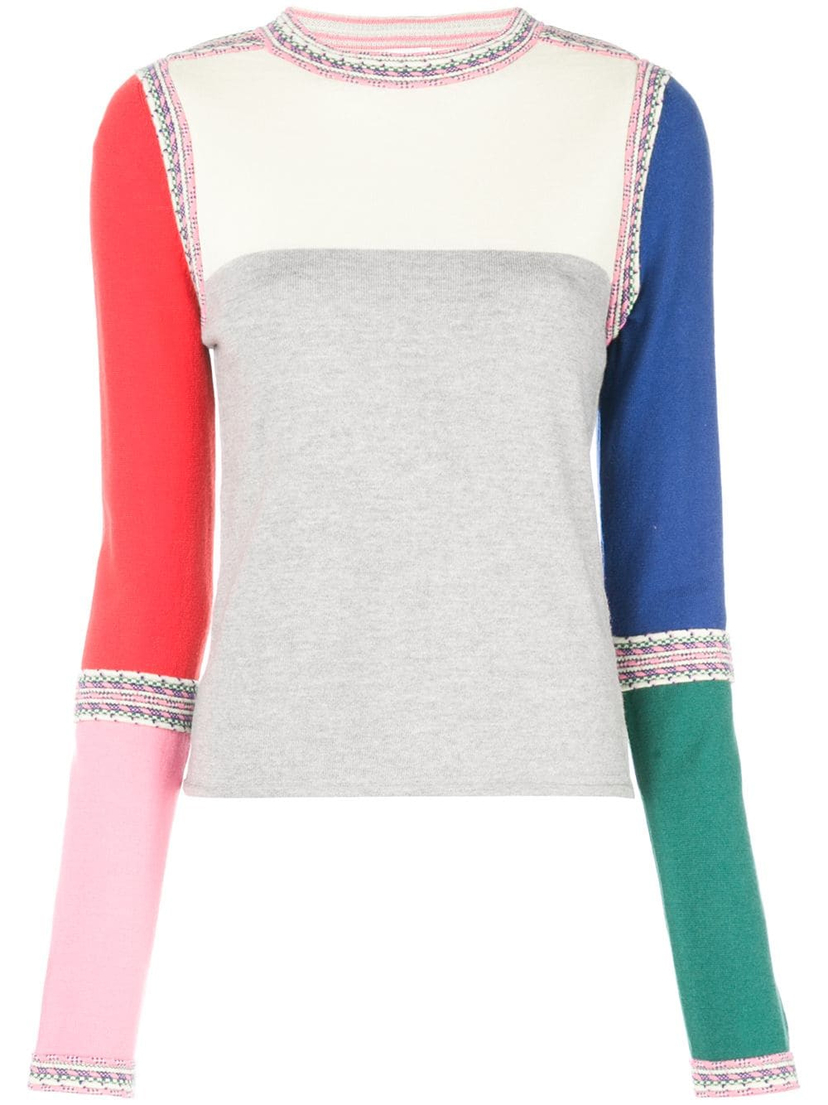 Rosie Assoulin Ottoman Crew Neck Sweater Tops