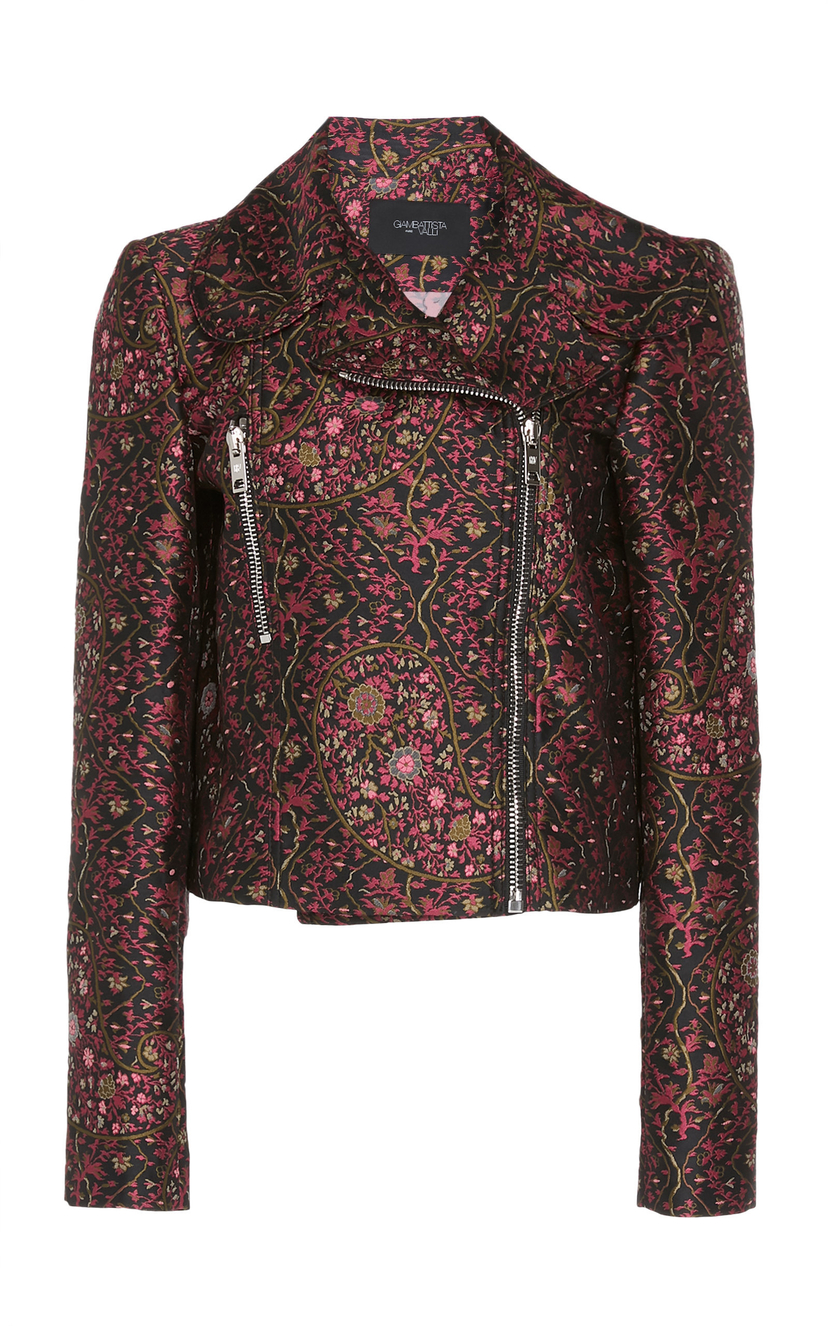 Giambattista Valli Floral Motorcycle Jacket Outerwear