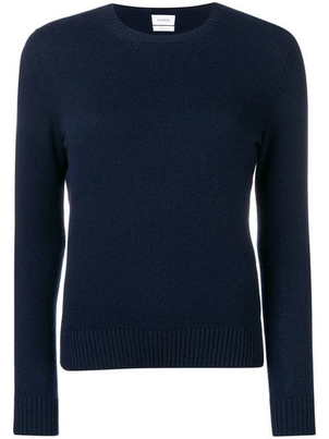 Barrie Barrie Cashmere Navy Crew Neck Sweater Tops
