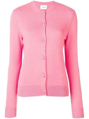 Barrie Barrie Hot Pink Classic Cardigan Tops