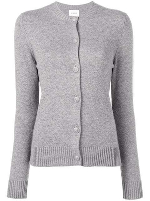 Barrie Barrie Cashmere Classic Grey Cardigan Tops