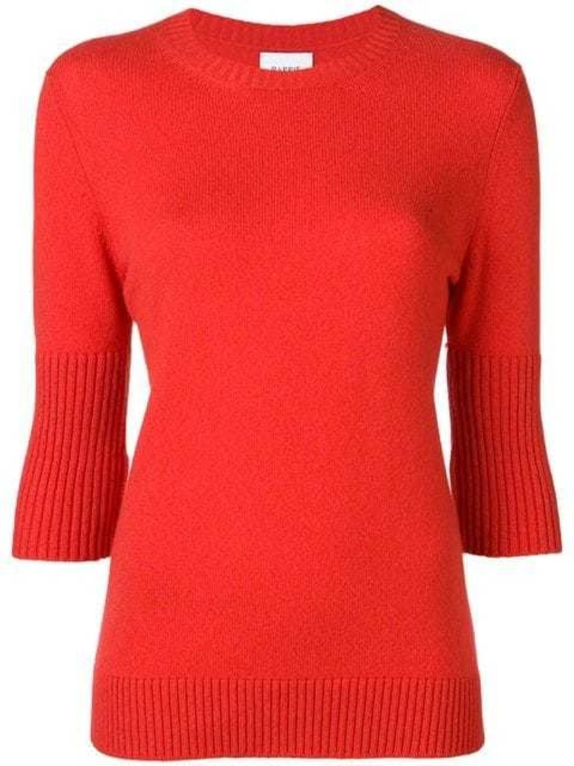 Barrie Barrie Cashmere Classic Red Sweater Tops