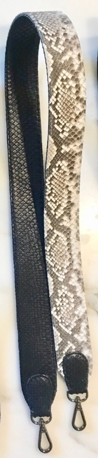 Natural Python Reversible Strap Accessories Bags