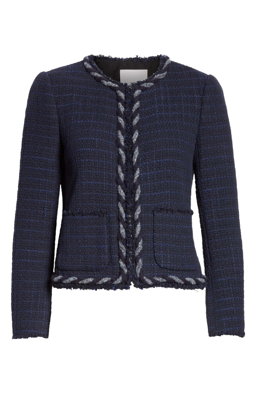 Rebecca Taylor Braided Edge Jacket Outerwear