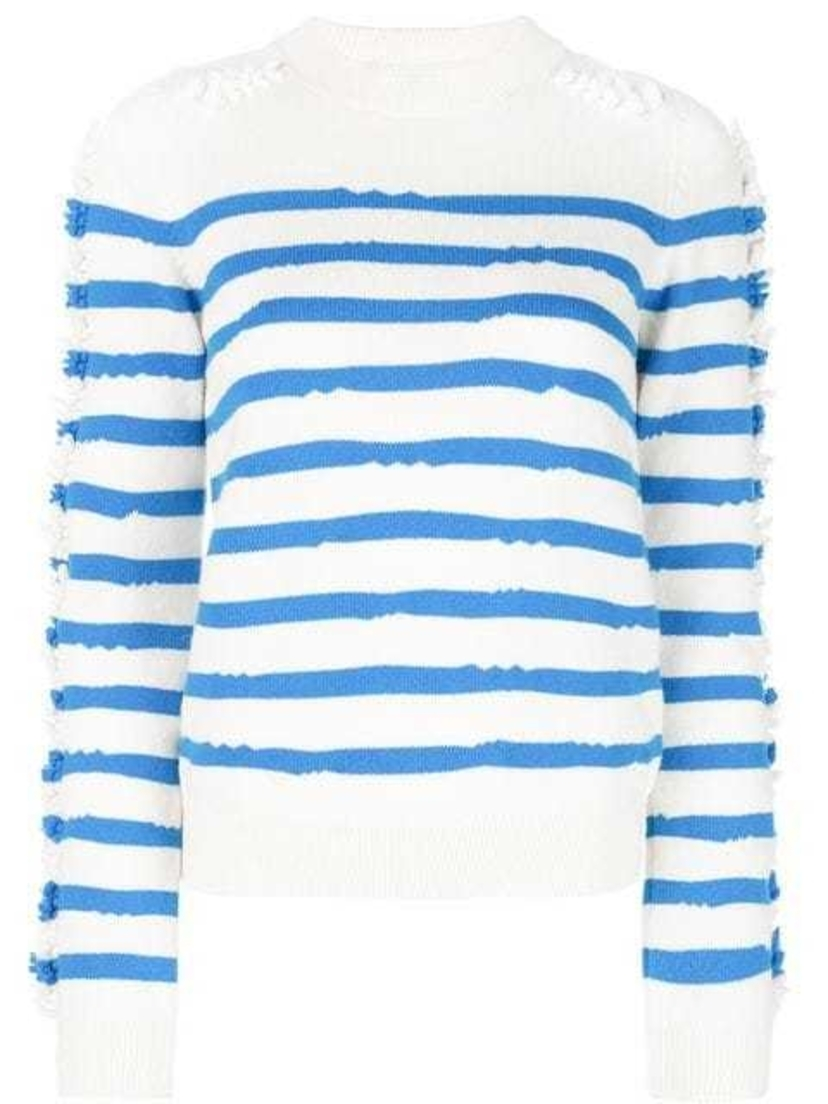 Barrie Barrie - Crewneck Striped Pullover Tops