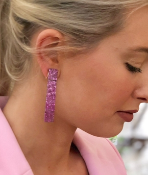 The Woods Fine Jewelry Pink Sapphire Rectangle Earrings Jewelry
