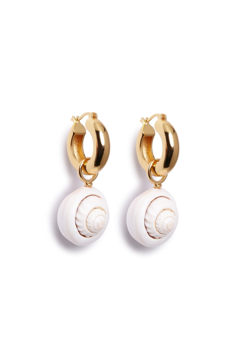 Lizzie Fortunato NAUTILUS EARRINGS Jewelry