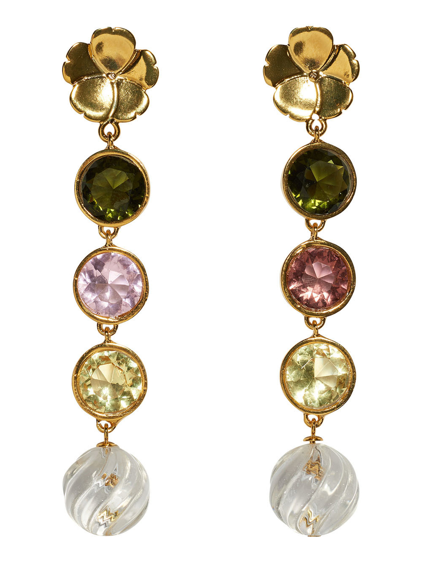 Lizzie Fortunato Lizzie Fortunato - Nonna Flower Link Earrings Jewelry