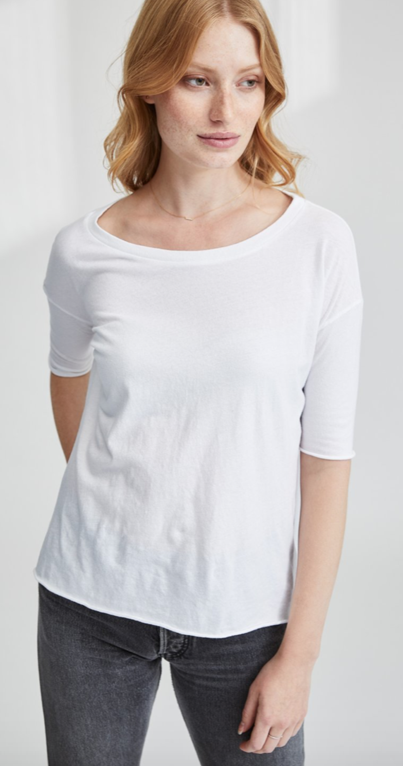 Tee Lab by Frank & Eileen Core Half Sleeve Tee - White Tops