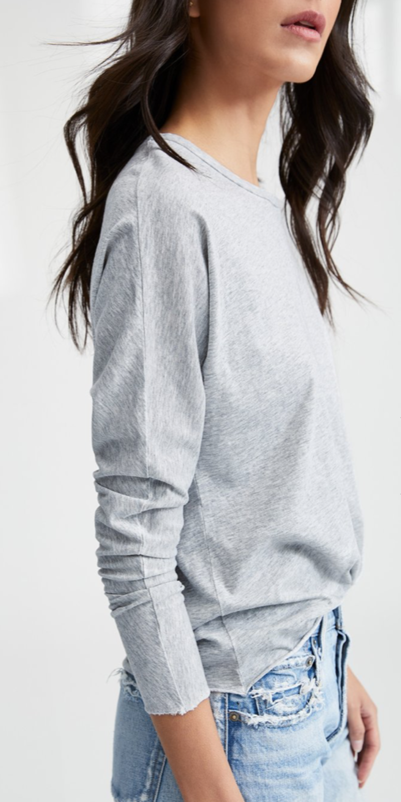 Tee Lab by Frank & Eileen Continuous Sleeve Tee - Grey Tops