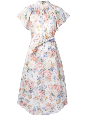 Zimmermann Bowie Flutter Long Dress Dresses