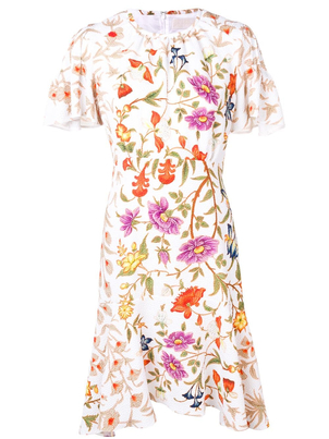 Peter Pilotto Floral Print Midi Dress Dresses