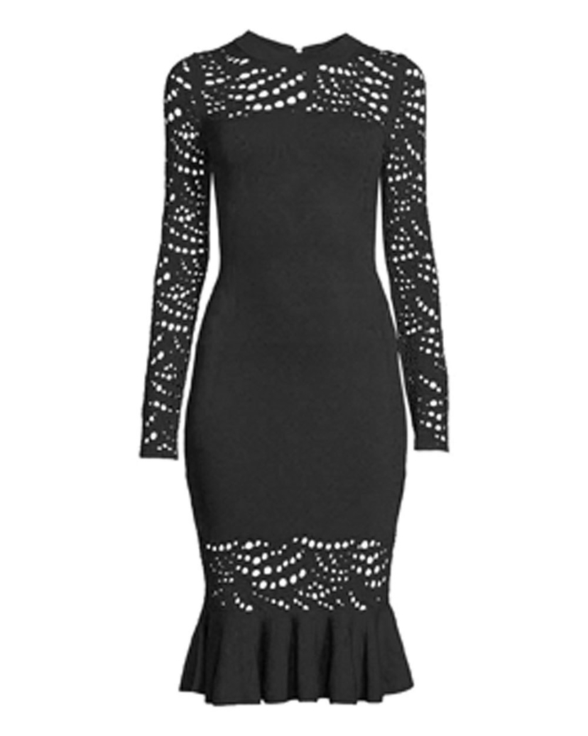 Milly Milly Black Lace Pointelle Mermaid Dress Dresses