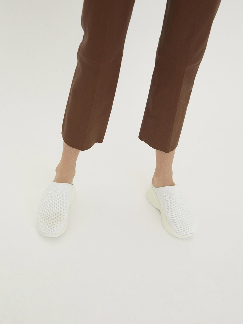 By Malene Birger Leather Trousers - Terracotta Pants