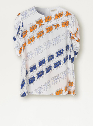 By Malene Birger Dancing Girls Print Top Tops