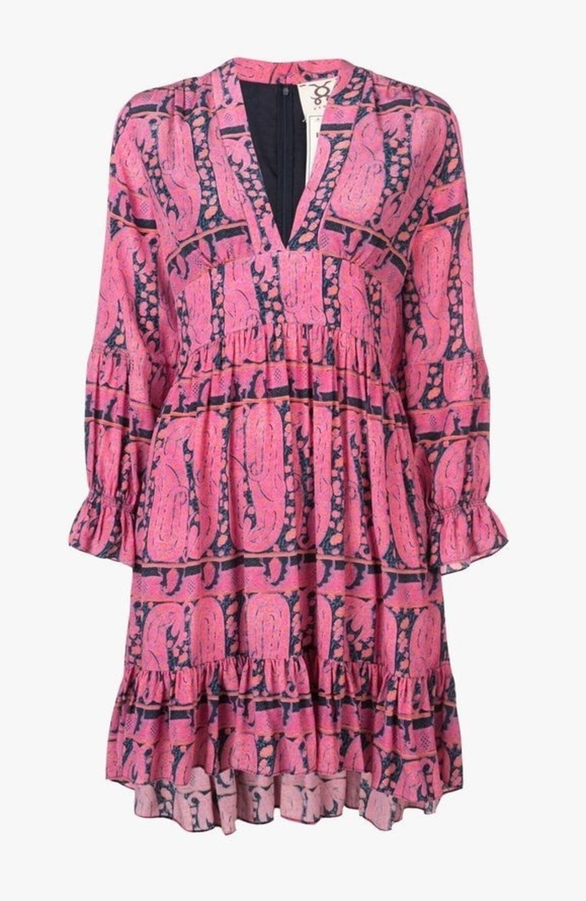 Figue Sienna Dress -  Playa Paisley Pink Dresses