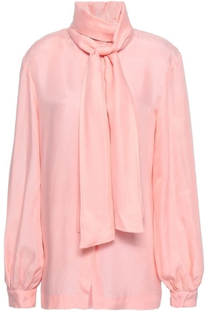Paper London Pink Bow Blouse Tops