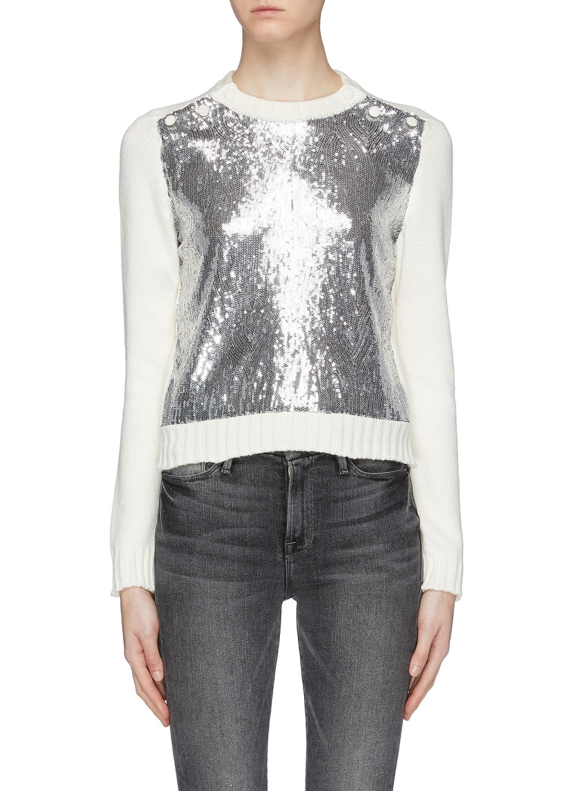 Philosophy di Lorenzo Serafini Sequin Sweater Tops