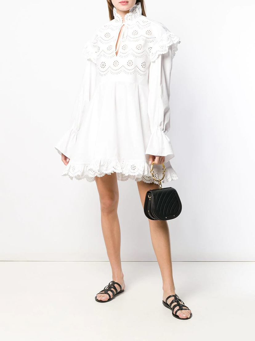 Philosophy di Lorenzo Serafini Eyelet Dress Dresses
