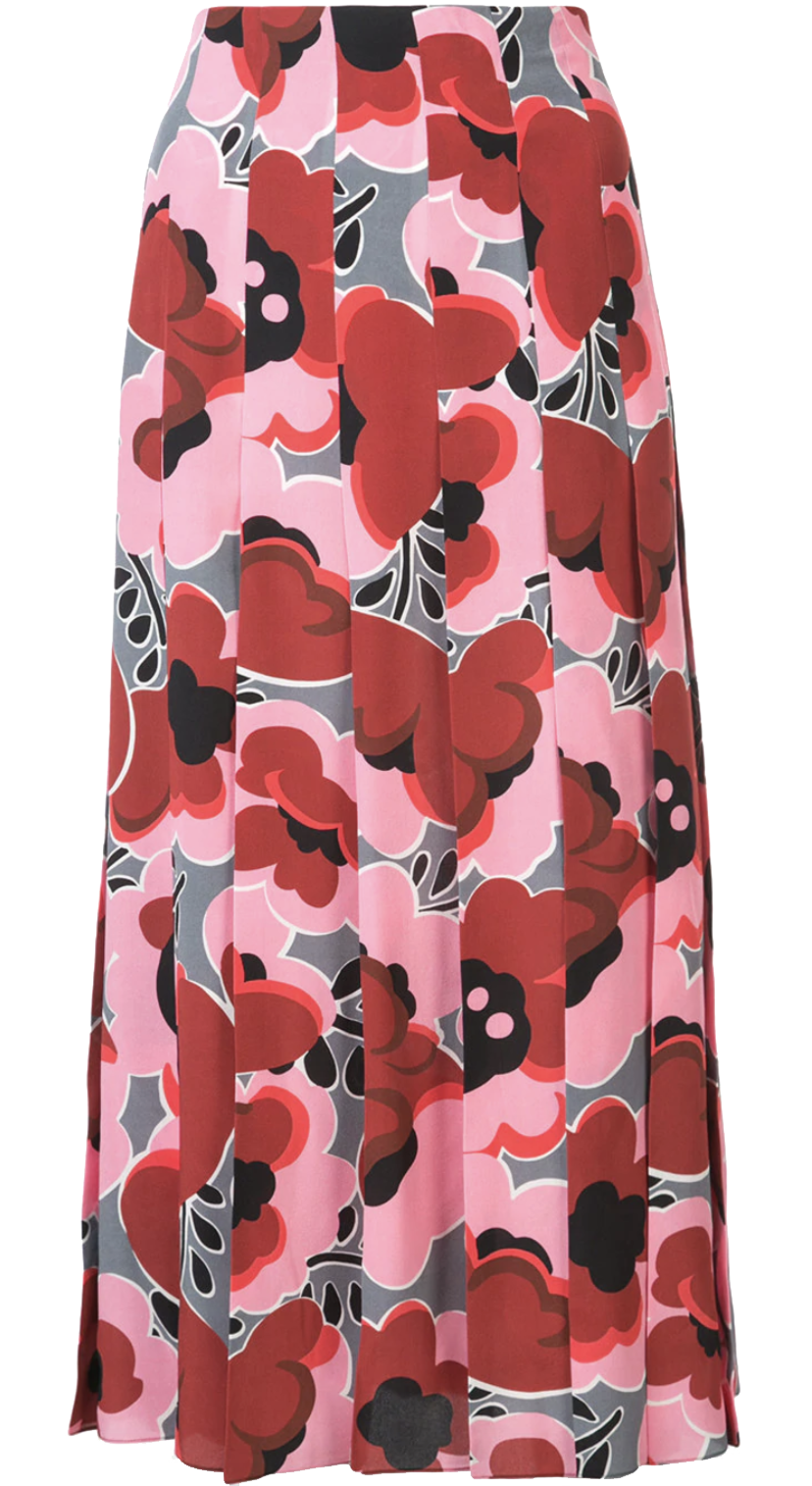 Gucci Gucci Poppy Pleated Skirt Skirts