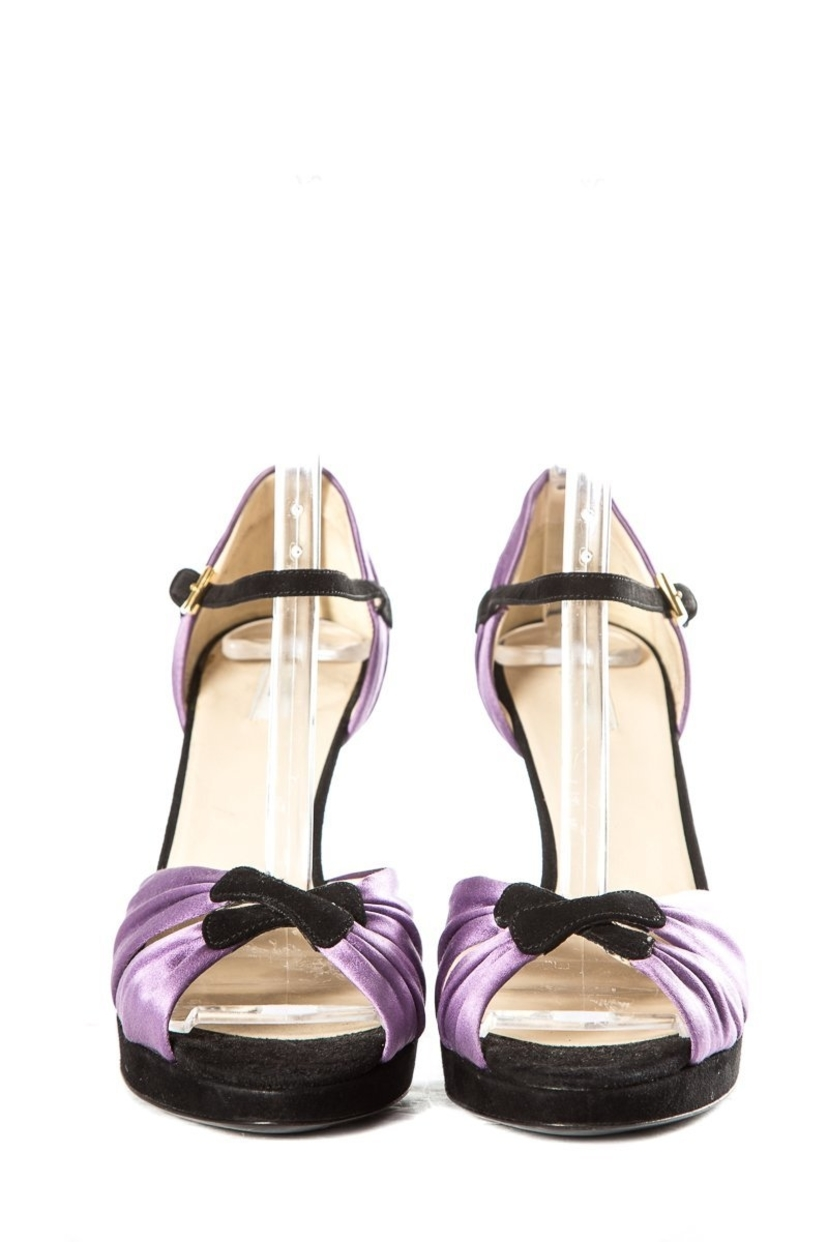 Prada Prada Lavendar Satin Sandals SZ 38.5 Shoes