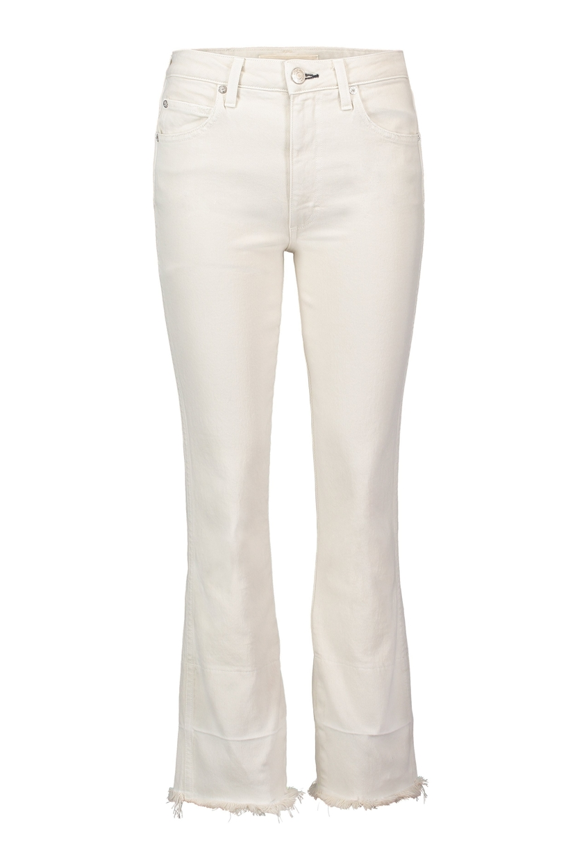 AMO Bella High-Rise Flare-Leg Jeans with Released Hem Pants Sale