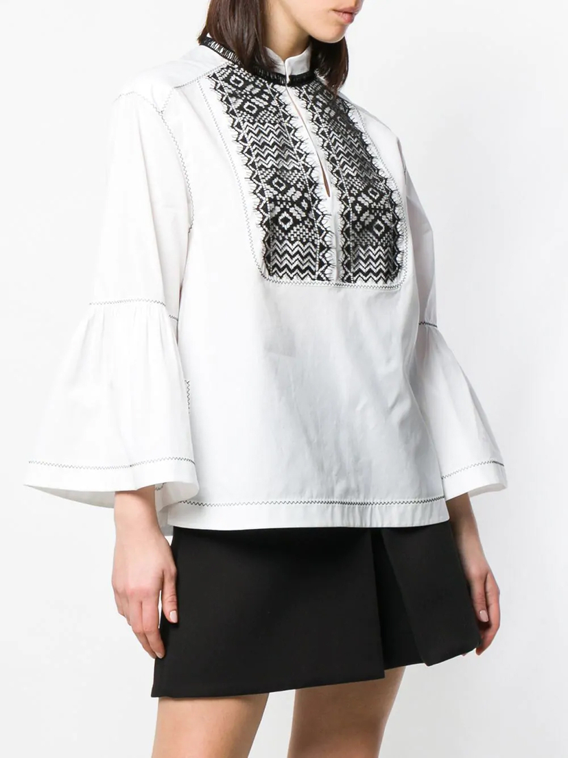 Alberta Ferretti Embroidered Blouse Tops